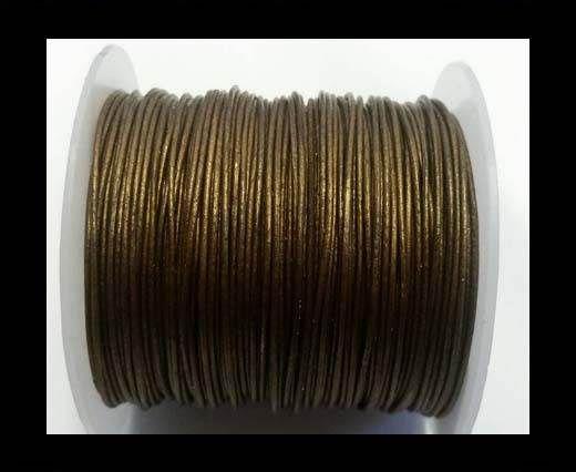 Round Leather Cord -1mm- SE Metallic Bronze