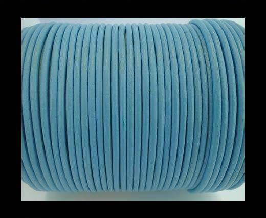 Round Leather Cord 4mm- SE R Light Blue