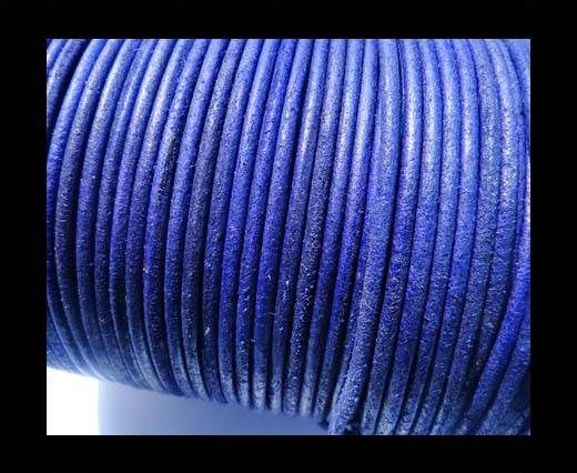 Round Leather Cord -5mm - SE R Vintage Purple