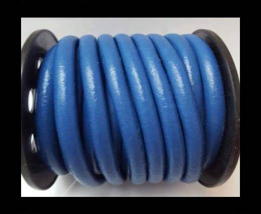 Round Leather Cord 4mm-Blue