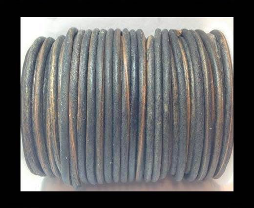 Round Leather Cord 4mm-SE. Vintage Grey