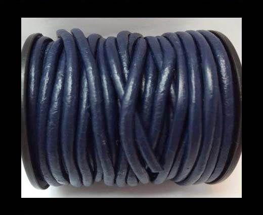 Round Leather Cord -5mm - Dark Blue
