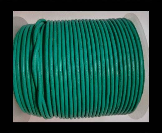 Round leather cord 2mm-GREEN