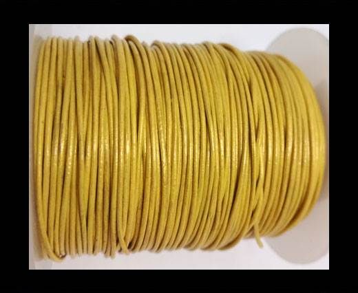 Round Leather Cord -1mm- METALLIC GOLD