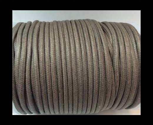 Round Wax Cotton Cords - 2mm - Dark Grey