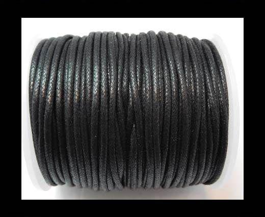 Round Wax Cotton Cords - 2mm - Black