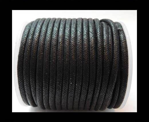 Round Wax Cotton Cords - 3mm - Black