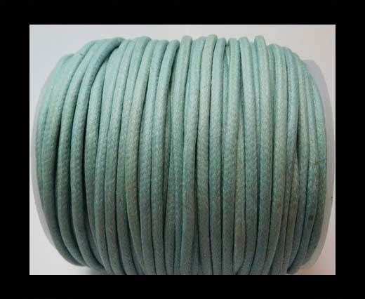 Round Wax Cotton Cords - 3mm - LT Turquoise
