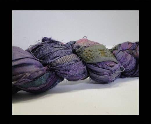 Sari silk ribbons- Dusty Plum