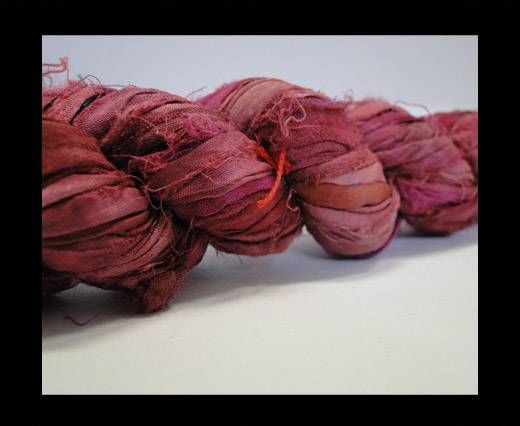 Sari silk ribbons- Ruby Wine