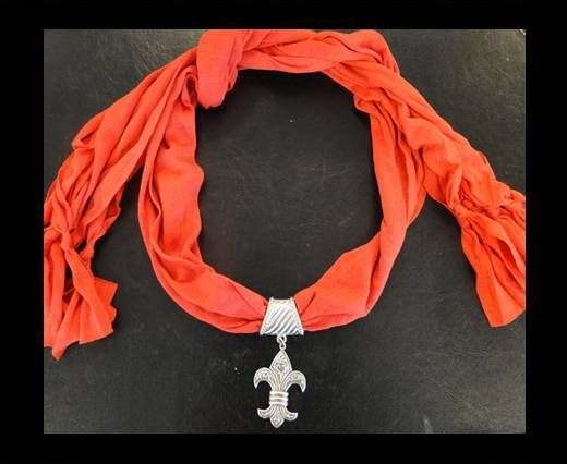 Scarf With Beads Style2-Red