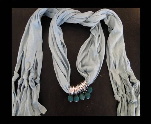 Scarf With Beads Style5-Beige