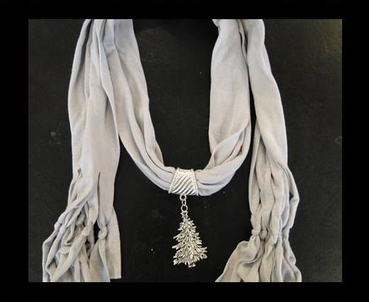 Scarf With Beads Style16-White