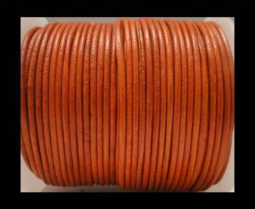 Round Leather Cord SE/R/Orange - 3mm