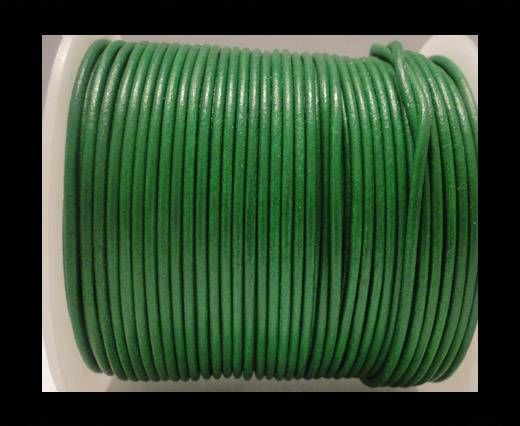 Round Leather Cord SE/R/Apple Green - 3mm