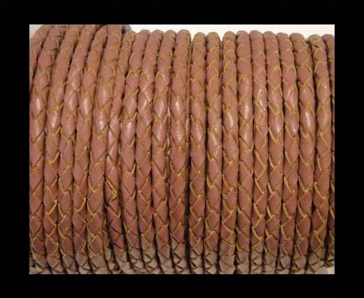 Round Braided Leather Cord SE/B/2019-Taupe-6mm