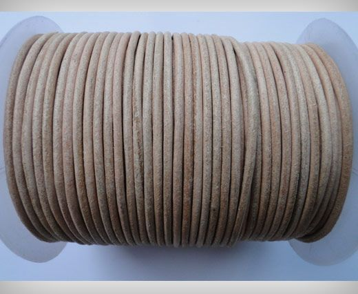 Round Leather Cord SE/R/01-Natural - 3mm