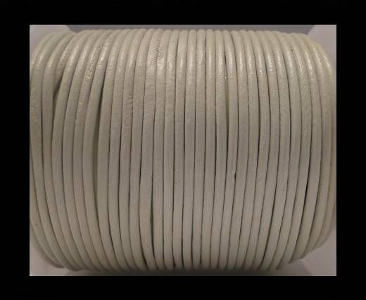 Round Leather Cord SE/R/06-White - 2mm