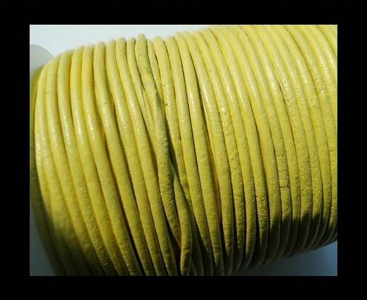 Round Leather Cord SE/R/Canary-3mm