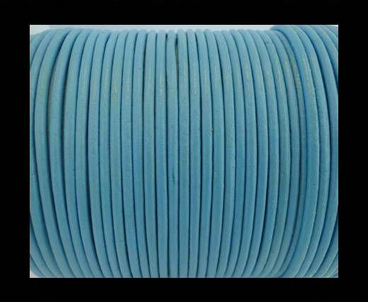 Round Leather Cord SE/R/Light Blue - 3mm
