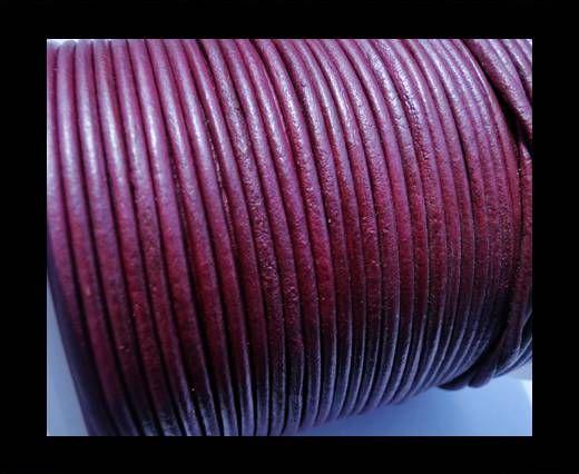 Round Leather Cord SE/R/Metallic Violet - 3mm