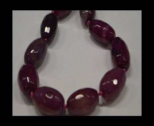 Semi Precious Stones item 12-Fuchsia-16*30 mm