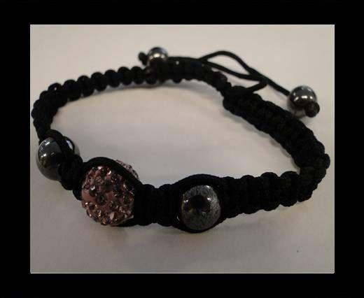 Shamballa Bracelet-SB-Light Pink-Style-4