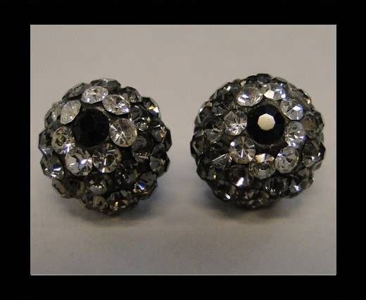 Shamballa-Flower-10mm-Black Diamond