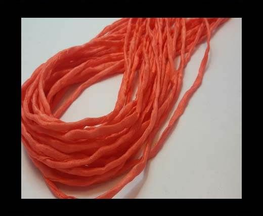 Silk Cords - 2mm - Round -CORAL RED