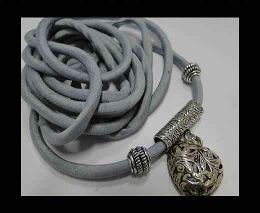 Cordones de seda rellenos de algodón - 4mm - Aqua