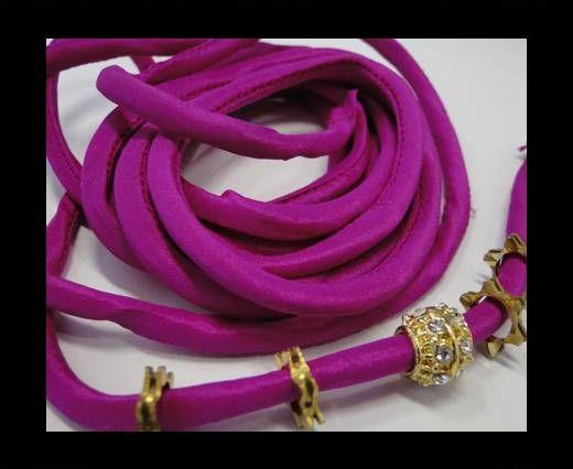 Cordones de seda rellenos de algodón - 4mm - Rosa Eléctrico