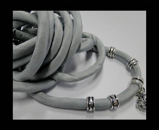 Cordones de seda rellenos de algodón - 8mm - Aqua