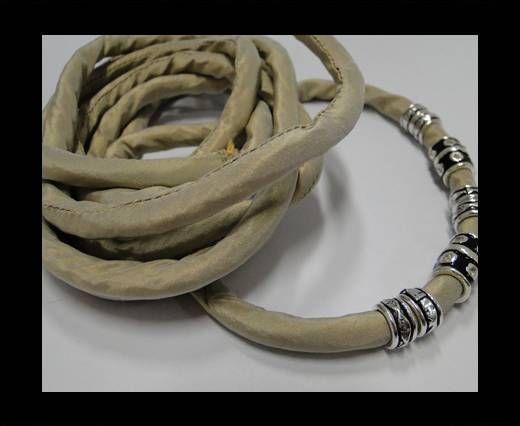 Cordones de seda rellenos de algodón - 8mm - Marrón Claro