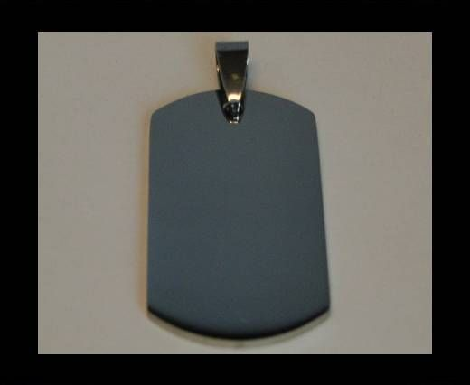 Stainless steel pendant SSP-213-22*35mm-Silver