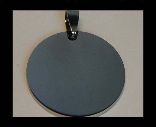Stainless steel pendant SSP-214-30mm-Silver