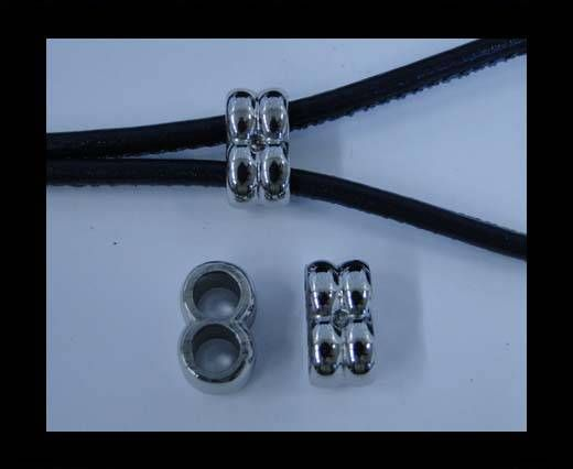 Stainless steel part for round leather SSP-233-3,6MM