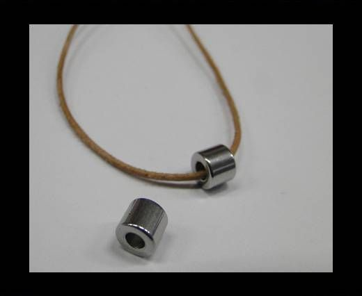 Stainless steel part for round leather SSP-348-steel-6*3mm