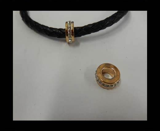 Stainless steel part for leather SSP-361-7mm-Rose Gold