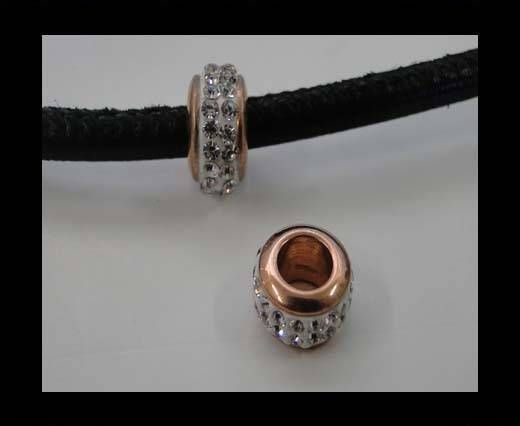 Stainless steel part for round leather SSP-366-5mm-rose gold