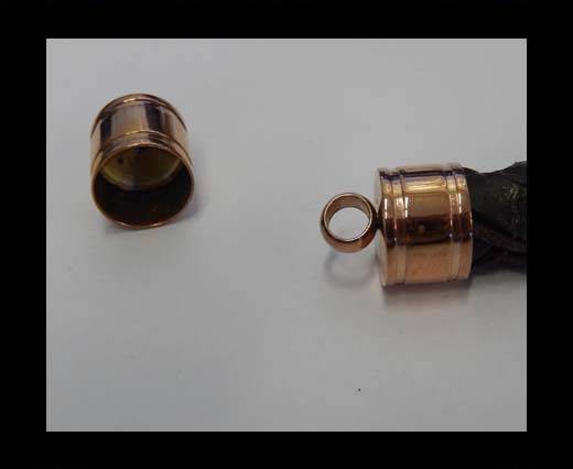 Stainless steel end cap SSP-392-12mm-Rose Gold