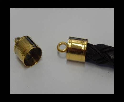 Stainless steel end cap SSP-392-14mm-Gold