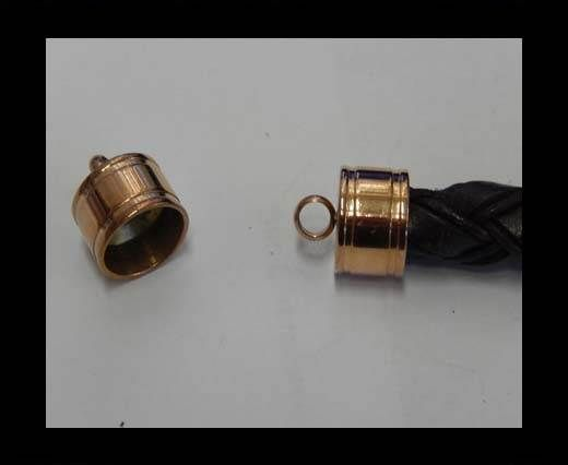 Stainless steel end cap SSP-392-14mm-Rose Gold