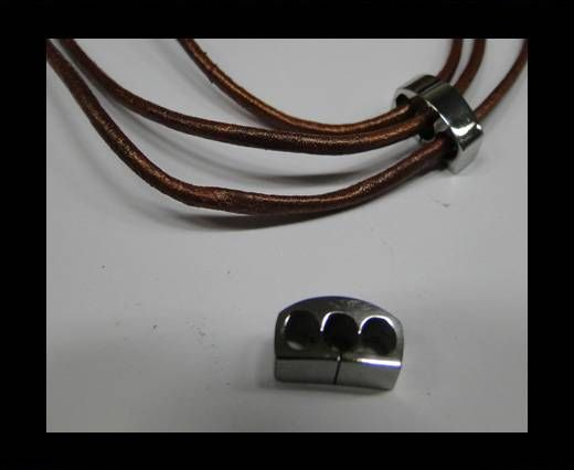 Stainless steel part for round leather SSP-398-3*3mm-Steel