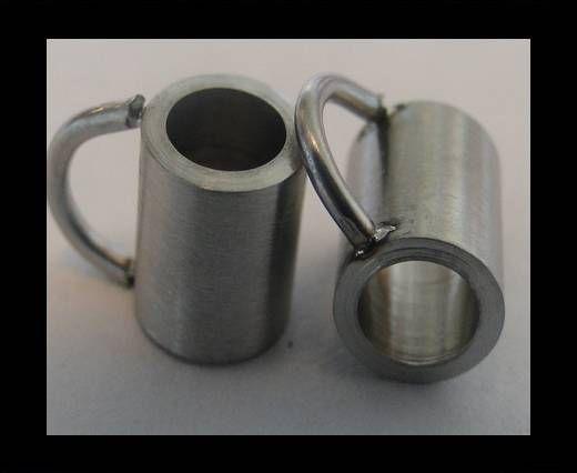 Stainless steel part for leather SSP-54 - 4mm MATT