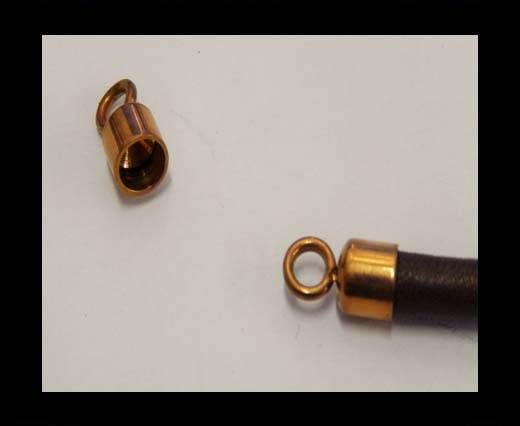 Stainless steel part for round leather SSP-584-4mm-Rose Gold