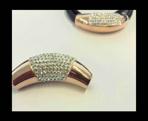 Stainless steel part for leather SSP-627-8mm-Rose Gold