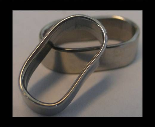 Stainless steel part for leather SSP-74 - 13,2 -BY-5,8mm