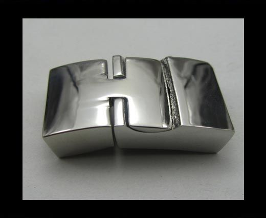 Stainless Steel Magnetic Clasp,Steel,MGST-33-17*5mm