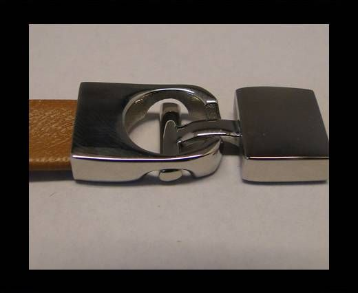 Stainless Steel Hook Clasp-MGST-67-11.5x5mm