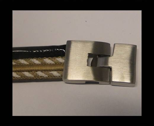 Stainless Steel Magnetic Clasp,Steel,MGST-68-20*4mm